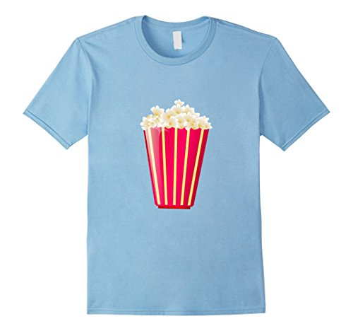 Mens Costume For Couples Popcorn-Soda Funny Lazy T-shirt Small Baby Blue (Popcorn Costume Baby)