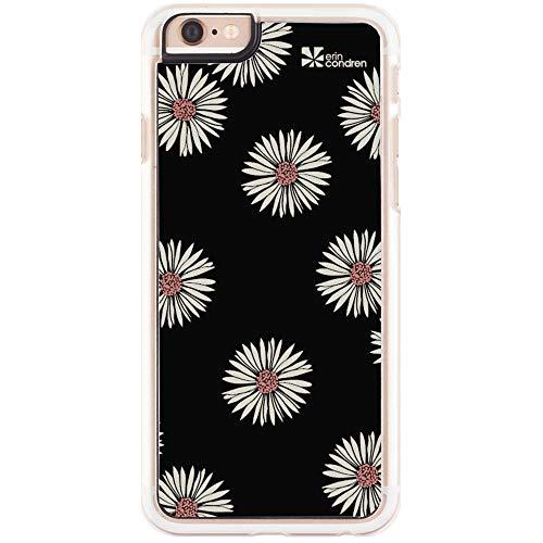 Erin Condren Apple iPhone 6 Plus/iPhone 6s Plus Designer Phone Case, Snap-in, Transparent Rubber No-Slip Siding, Signature Daisies Background
