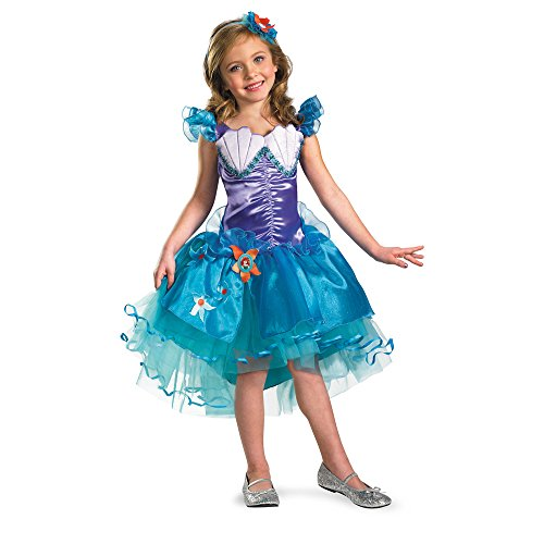 Girl's Disney The Little Mermaid Ariel Tutu Prestige Costume, 3T-4T