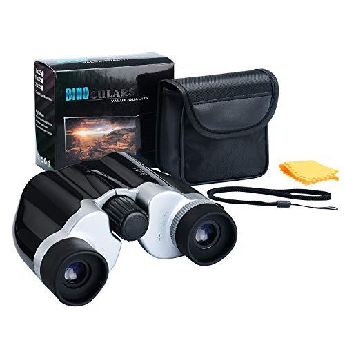 Binoculars Kids - 8x21 Kids Binoculars High Resolution - Small Size Children - Bird Watching, Outdoor Play (Black)