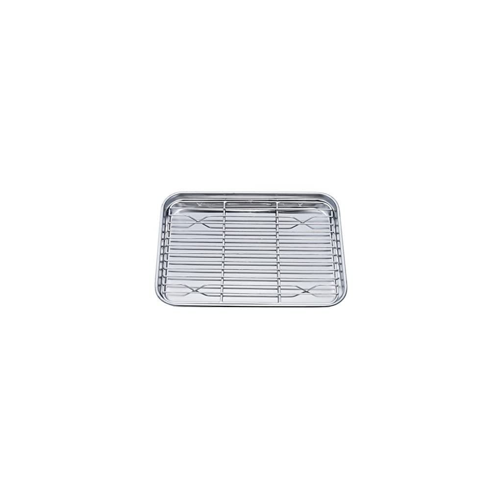 Teamfar Toaster Oven Pan Tray With Cooling Rack Stainless