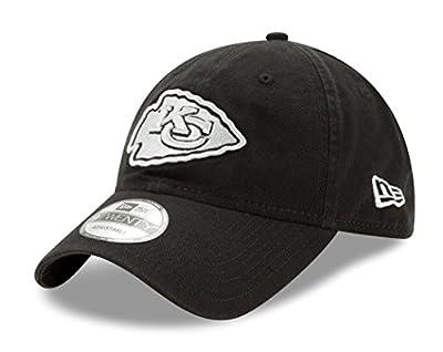 "Kansas City Chiefs New Era NFL 9Twenty ""Twill Core Classic"" Adjustable Black Hat by New Era"