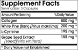 Super Collagen Complex L-Cysteine White Pine Bark Grape Seed Extract 90 Caps 100 Natural - by EarhNaturalSupplements Discount