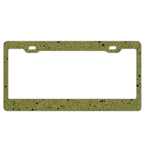 ty License Plate Olive Marble Texture () Aluminum License Plate, Front License Plate, Vanity Tag ()