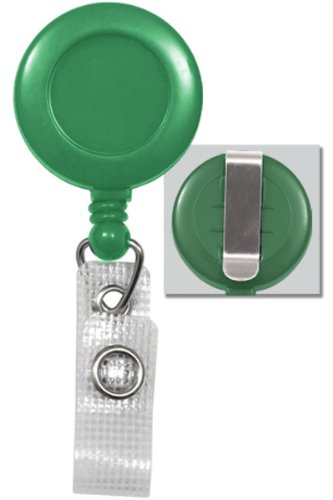 Green Retractable Badge Reel w/ Reinforced Vinyl Strap Clip 2120-3004 by Specialist ID