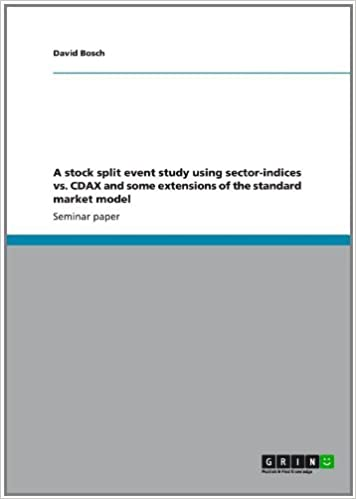 A stock split event study using sector-indices vs. CDAX and some extensions of the standard market model