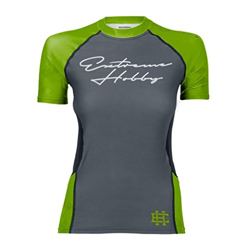 Mujer MMA deporte-BH Camiseta Rapid Erupción Guarida Verde Extreme Hobby. MMA Prenda de lucha en funcionamiento. entrenamiento. Gym