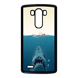 LG G3 Cell Phone Case Black Jaws Poster Art M2N2CT