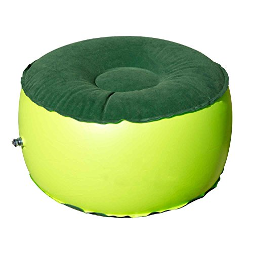 Portable Air Chair Durable Balance Outdoor Camping Chair Inflatable Stool Round Shape Fashion Home Furnishing for Healthy Parent-Child Play Home Office Yoga (Green)
