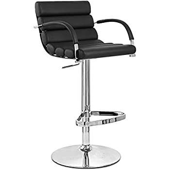 Amazon Com Black Ego Adjustable Height Swivel Bar Stool