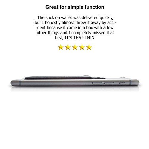 Deet Étui en silicone avec fente pour carte de crédit à fixer sur Apple iPhone 6S et 6S Plus Noir