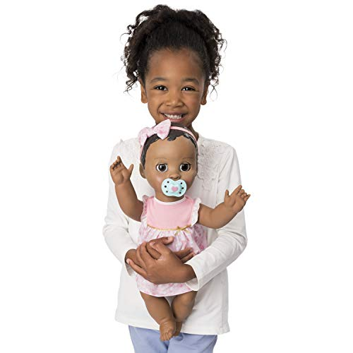 Luvabella Dark Brown Hair Interactive Baby Doll with Expressions & Movement, Ages 4 & Up