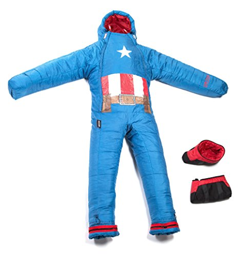 Selk'bag Captain America Sleeping Bag, Small, Blue