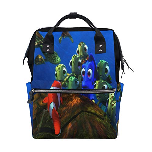 HangWang Diaper Bags Underwater Sea Ocean Tropical Fish Fashion Mummy Backpack Multi Functions Large Capacity Nappy Bag Nursing Bag for Baby Care for Traveling
