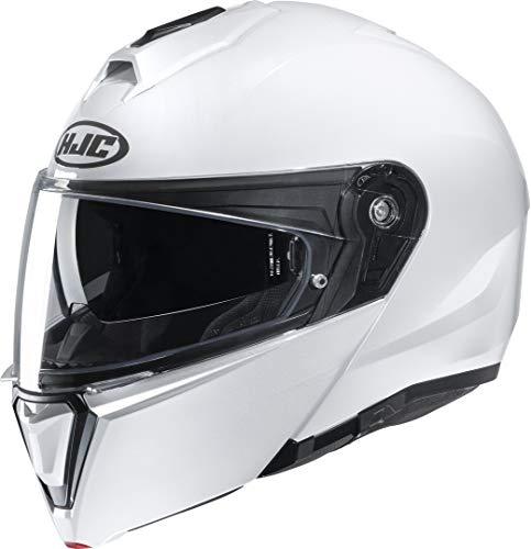 Motorradhelm HJC i90 Weiss Perle/PEARL WHITE, Weiss, M