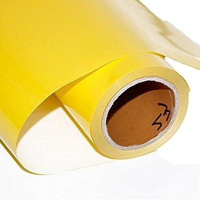 HOHO - Vinilo adhesivo de transferencia de calor de color amarillo neón HTV 30 cm x 50 cm para planchar sobre hojas para cricut, silueta y cameo: Amazon.es: Hogar