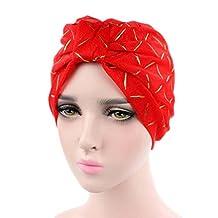 Winhurn Women Silk Yarn Cancer Chemo Hat Beanie Scarf Turban Head Wrap Cap