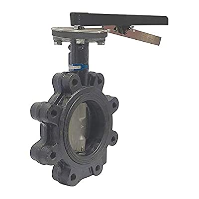 Butterfly Valve, Lug, 4 In, CI, EPDM Liner by Milwaukee Valve