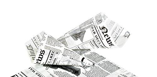 PacknWood Newspaper Printed Greaseproof Paper Cone, 7.1'' x 7.1''  (Case of 5000) by PacknWood