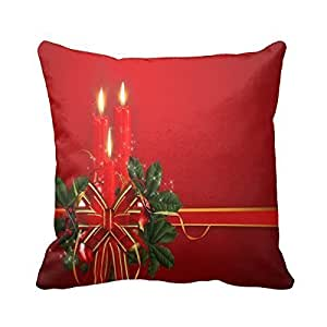 "pillow perfect Decorative traditional christmas decorations Pillow Cover 20""x 20"" (Twin Sides) Square Pillowcase Cotton Cushion Covers Holiday Gift"