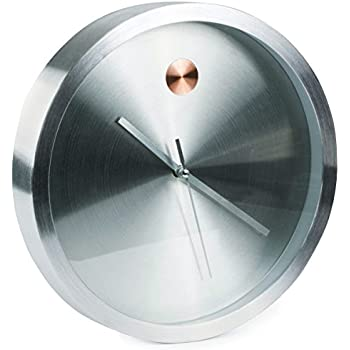 Amazoncom Umbra Ribbon Wall Clock Stainless Steel Home Kitchen