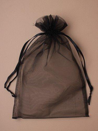 Splendido XL Negro Bolsas regalo organza - paquete de 12 ...