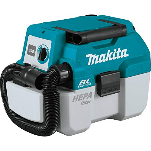 (Makita XCV11Z 18V LXT Lithium-Ion Brushless Cordless 2 Gallon HEPA Filter Portable Wet/Dry Dust Extractor/Vacuum, Tool Only)