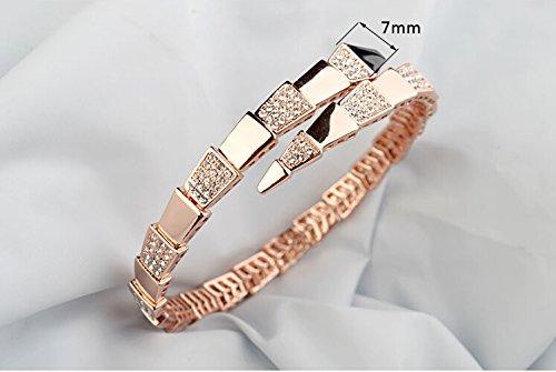 Classique Cristal Bracelet, bracelet plaqué or, Bling Cristal Bracelet