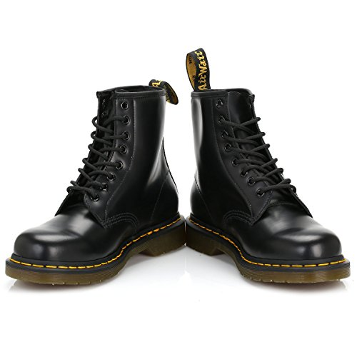 BOOTS 8 black EYELET LEATHER CLASSIC 1460 MARTENS DR z nHwURq0xC