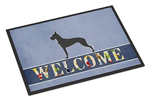 Caroline's Treasures Dane Welcome Doormat 18 x 27 Multicolor (Great Dane Doormat)