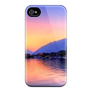 Excellent Design City View Lake Case Cover For Iphone 4/4s