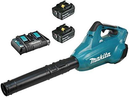 Makita DUB362PT2 - Soplador de hojas (36 V, 2 baterías de 18 V, 5 ...