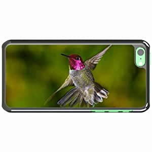 iPhone 5C Black Hardshell Case hummingbirds flap wings Desin Images Protector Back Cover