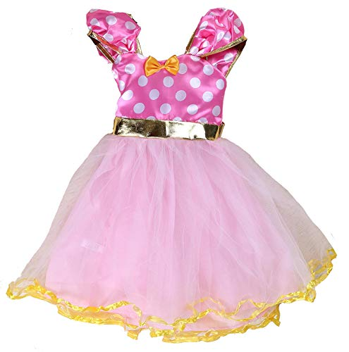 Tutu Dreams Minnie Polka Dot Princess Costume for Girls Pink Birthday New Years Eve Party (6X-7(120), Pink) ...]()