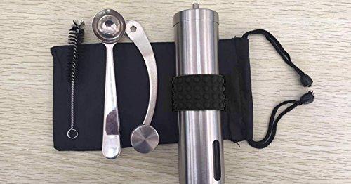MANUAL CONICAL BURR COFFEE GRINDER – slim design, ceramic, stainless steel, Adjustable grinder for varied coarseness of beans by Tru-Type (Image #8)
