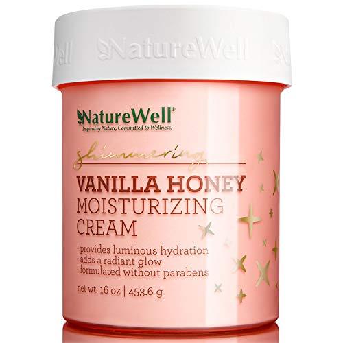 Vanilla Moisturizing Cream - Nature Well Shimmering Vanilla Honey Moisturizing Cream (16 oz.)