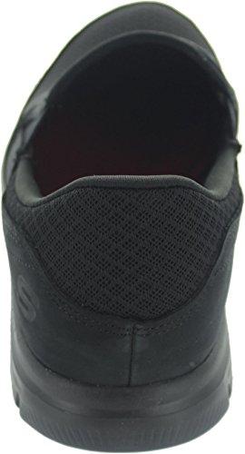 Skechers 76580_Blac, Mocassins pour Femme Noir Noir