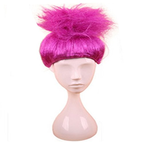 Longlove Cosplay Wig Halloween Fluffy Wigs Children Troll Flame Magic Fantasy Party Wig (rose red) (300 Costume Ideas)