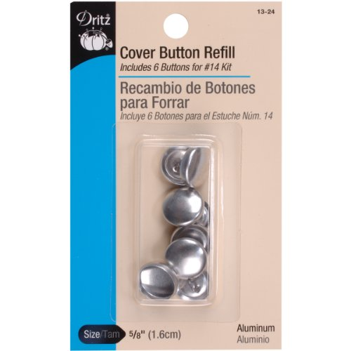 Cover Button Refill (Dritz Cover Button Refill - For #14 Kits - Size 24 - 6 Ct.)