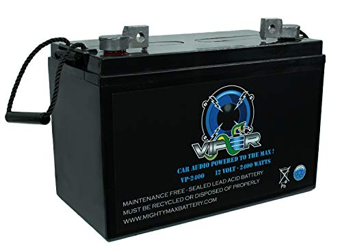 Mighty Max Battery Viper VP-2400 2400 Watt Car Audio Battery for Boss Chaos CE2404 Amp Brand Product