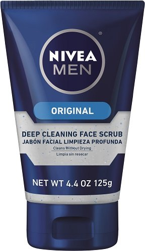 NIVEA FOR MEN Original, Deep Cleaning Face Scrub 4.4 oz (Pack of 2)