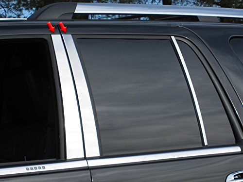 QAA FITS Expedition 1997-2017 Ford (4 Pc: Stainless Steel Pillar Post Trim Kit, 4-Door, SUV) PP37383