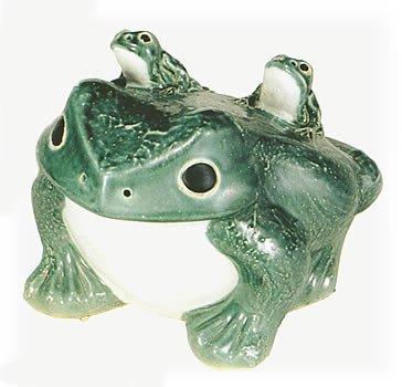 信楽焼陶器 置物 青蛙 子2匹 12号 SV52-5 B00AXDAQE4