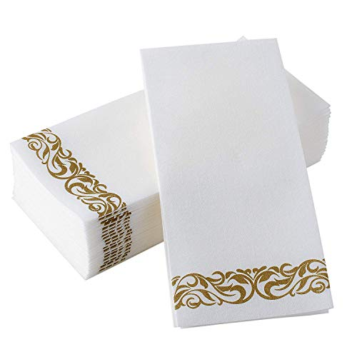 American Accessories Disposable Hand Towels Fancy Napkins Decorative napkins Soft and Absorbent, Linen-Feel Bulk Paper…