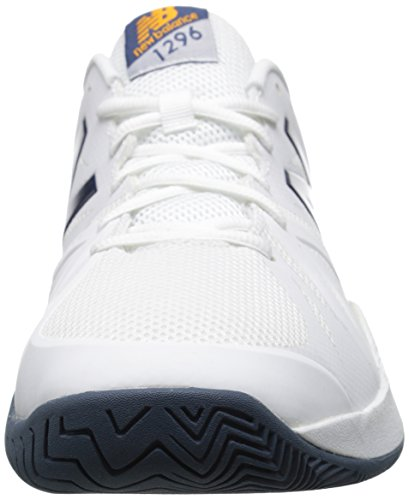 New Balance Men's 1296v2 Tennis Shoe White/Blue