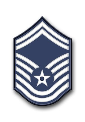 Magnet US Air Force Senior Master Sergeant (No Diamond) Vinyl Magnet Military Veteran Served Car Bumper Sticker Magnetic Vinyl 3.8