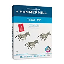 Hammermill Paper, Tidal MP, 20lb, 8.5 x 11, 3 Hole, 92 Bright, 500 Sheets / 1 Ream (162032)