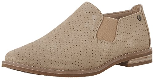 (Hush Puppies Women's Analise Clever Flat, Light Tan Suede Perforated, 9.5 M US)
