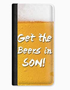 Get The Beers In Son! iPhone 5c Leather Flip Case wangjiang maoyi by lolosakes