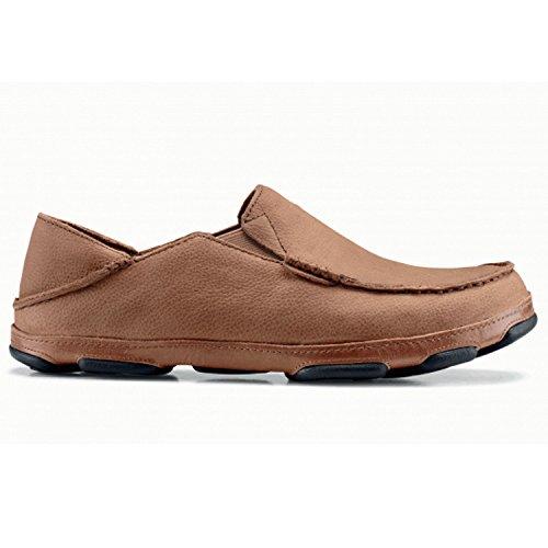 OLUKAI Mens Moloa Leather Slip On Shoe (Tobacco/Tan, 9) -